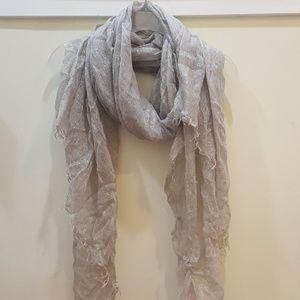 Silvery gray scarf